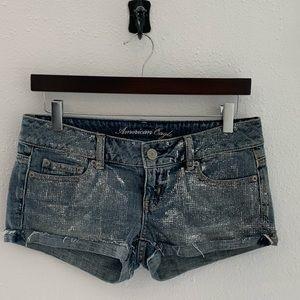 American Eagle denim bling womens shorts 31 waist